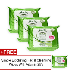 Simple Exfoliating F*c**l Cleansing Wipes With Vitamin 25 S X 3 Packs Free 1 Pack 3986 Reviews