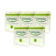 Where Can You Buy Pack Of 5 Simple Sensitive Skin Pure Soap 125G X 2 1068