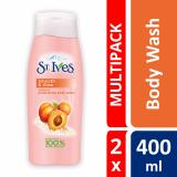 St Ives Body Wash Exfoliating Apricot 400Ml X 2 St Ives Cheap On Singapore