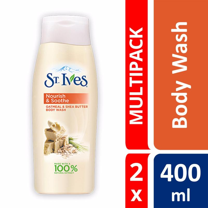 Buy St Ives Oatmeal & Shea Butter Body Wash 400ml X 2 Singapore