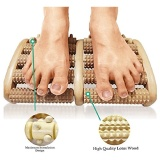 Stress Relief Wooden Dual Foot Massager Roller Relieve Plantar Fasciitis Acupressure Reflexology Tool Relieve Blood Circulation Intl Best Price