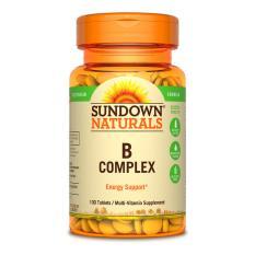 Sundown Naturals B Complex 100 Veg Tabs 6 Bottles Lowest Price