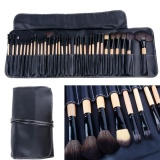 Lowest Price Sunwonder Beauty G*rl 32 Pcs Makeup Brush Set Cosmetic Pencil Lip Liner Make Up Kit With Holder Bag Black Intl