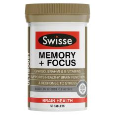 Swisse Ultiboost Memory + Focus 50 Tablets August 2020 By Australia Health Warehouse.
