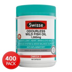 Swisse Ultiboost Odourless Wild Fish Oil 1000mg 400 Capsules March 2021 By Australia Health Warehouse.
