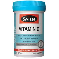 Buy Swisse Ultiboost Vitamin D Supplement 60 Capsules Online