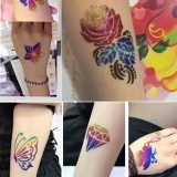 Who Sells Tattoo Kit 24 Colors Cosmetic Shimmer Glitter Powder Artificial Body Art Makeup Intl The Cheapest