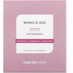 Buy Thank You Farmer Miracle Age Repair Cotton Mask 5Pc Thank You Farmer Original