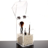 Sale Transparent Acrylic Makeup Brushes Container Sundries Storage Case Holder Small Intl Oem Branded