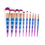 Price Vander 2275 Makeup Brushes Set Diamond Shape Handle Purple Intl Oem