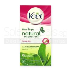 Compare Pack Of 3 Veet Wax Strips Natural Inspirations For Normal Skin W Aloe Vera 20S 2321