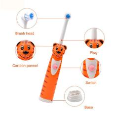 Waterproof Battery Powered Children Cartoon Pattern Electric Toothbrush Child Oral Hygiene Electric Massage Teeth Care Kids Toothbrush Cleanser Tiger Intl Shop