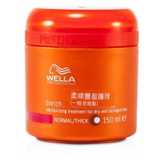 Compare Wella Enrich Moisturizing Treatment For Dry And Damaged Hair Normal Thick 150Ml 5Oz Export Prices