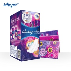 Sale Whisper Always Radiant Colorful Women Pads Health Care Dry Surface Sanitary Napkin 300Mm Night Use 24 Pads 1 Box Ultra Thin China Cheap