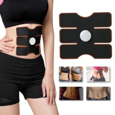 Wireless Ems Muscle Training Gear Arm Abdominal Abs Fitness Pad Body Shaper Black Intl Free Shipping