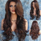Women Fashion Long Wavy Curly Hair Cospaly Costume Full Wigs Hair Extension Intl Price Comparison