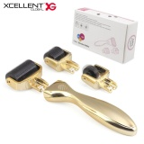 Sale Xcellent Global 3 In 1 Derma Roller Kit 3 Separate Roller Heads Of Different Needle Count 180C 600C 1200C In 5Mm 1 0Mm 1 5Mm Size Made Of Medical Steel For Eyes Face And Body Safe Includes Travel And Storage Case Version Upgraded Gold Hg208 Xcellent Global Online