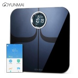Sale Yunmai M1301 App Control Bluetooth Smart Body Fat Electronic Scale Ito Tempered Glass Surface Intl China