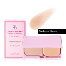 Review Za Airy Flawless Powder Foundation Po20 Natural Rose 8G Za On Singapore