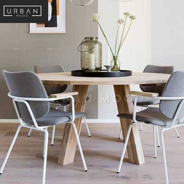 [Pre-Order] STAVE Rustic Solid Wood Round Dining Table