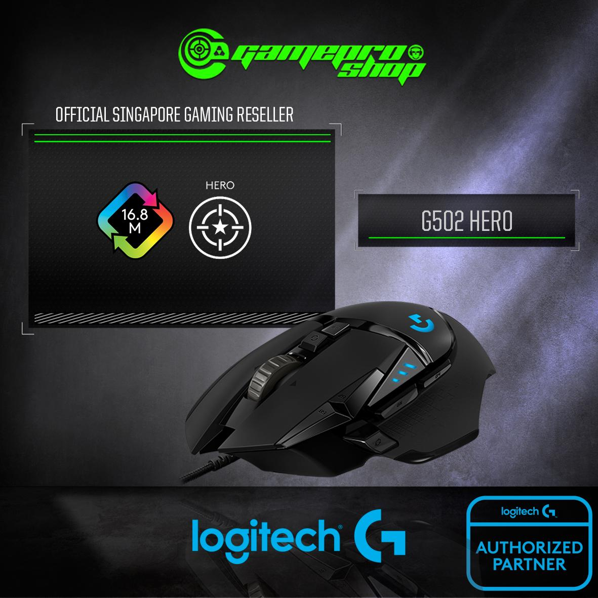 LOGITECH G502 HERO HIGH PERFORMANCE GAMING MOUSE *NDP PROMO*