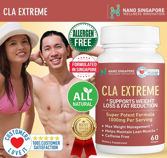 Nano Sg - Cla Extreme 1000mg - *max Weight Loss * Slimming * Fat Reduction * Lean Muscle 1 Best-Selling By Nano Singapore.