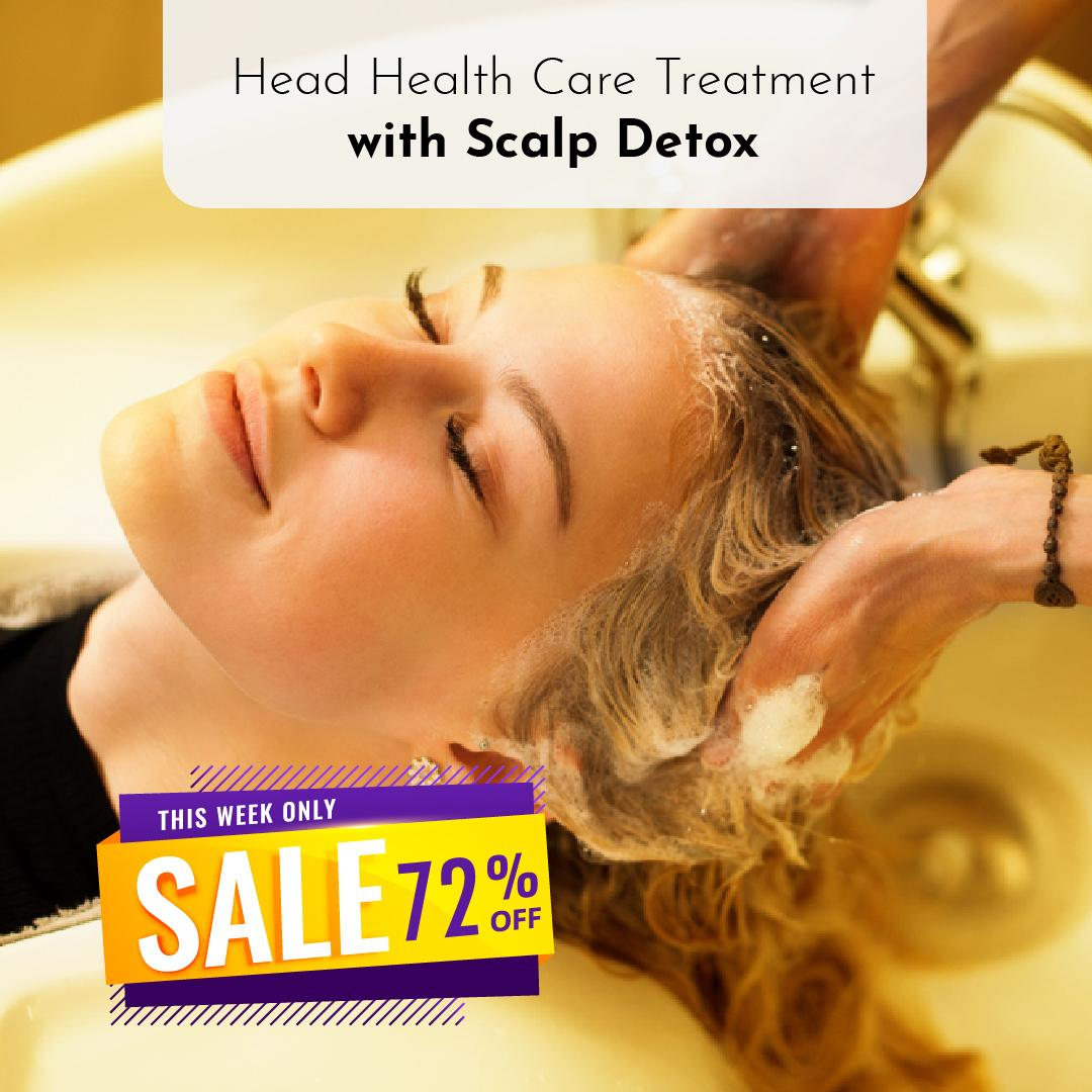60 Minutes Head Health Care Treatment With Scalp Detox At Head & Wellness By Glowcouture By Indulgemall.