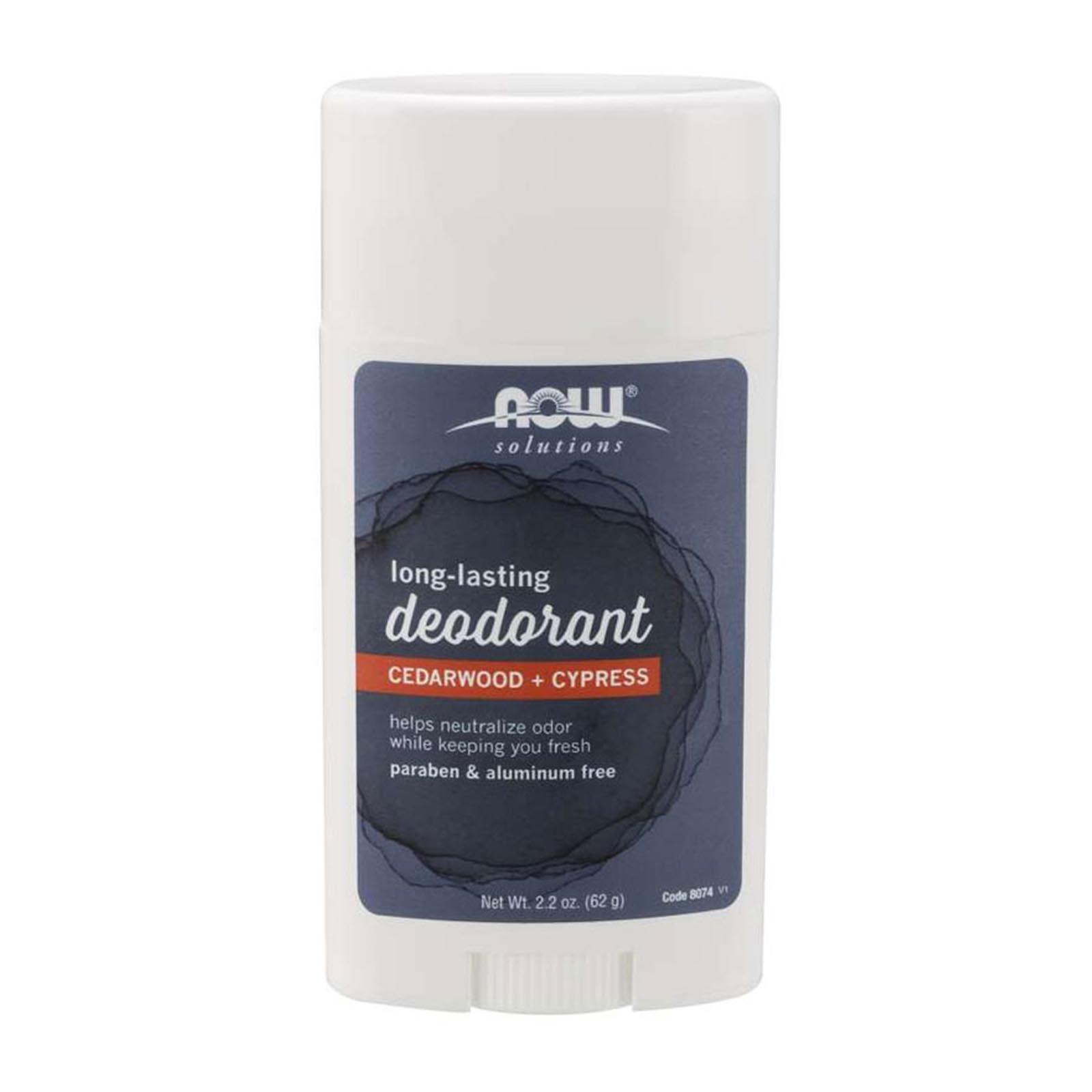 Now Foods Long Lasting Deodorant Cedarwood + Cypress 2.2 Oz