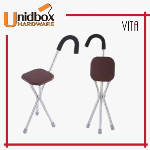 Buy VITA Stainless Steel Square Cane Chair Singapore