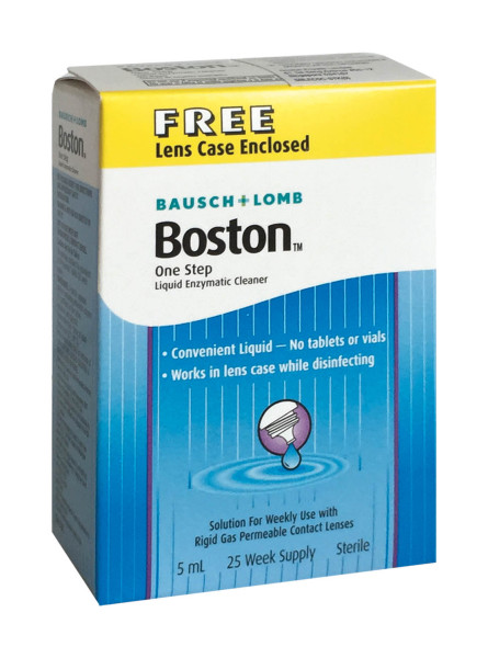 Buy Boston One Step Liquid Enzymatic Cleaner (5ml) protein remover lens care eye care optical care lens wearing comfort Singapore
