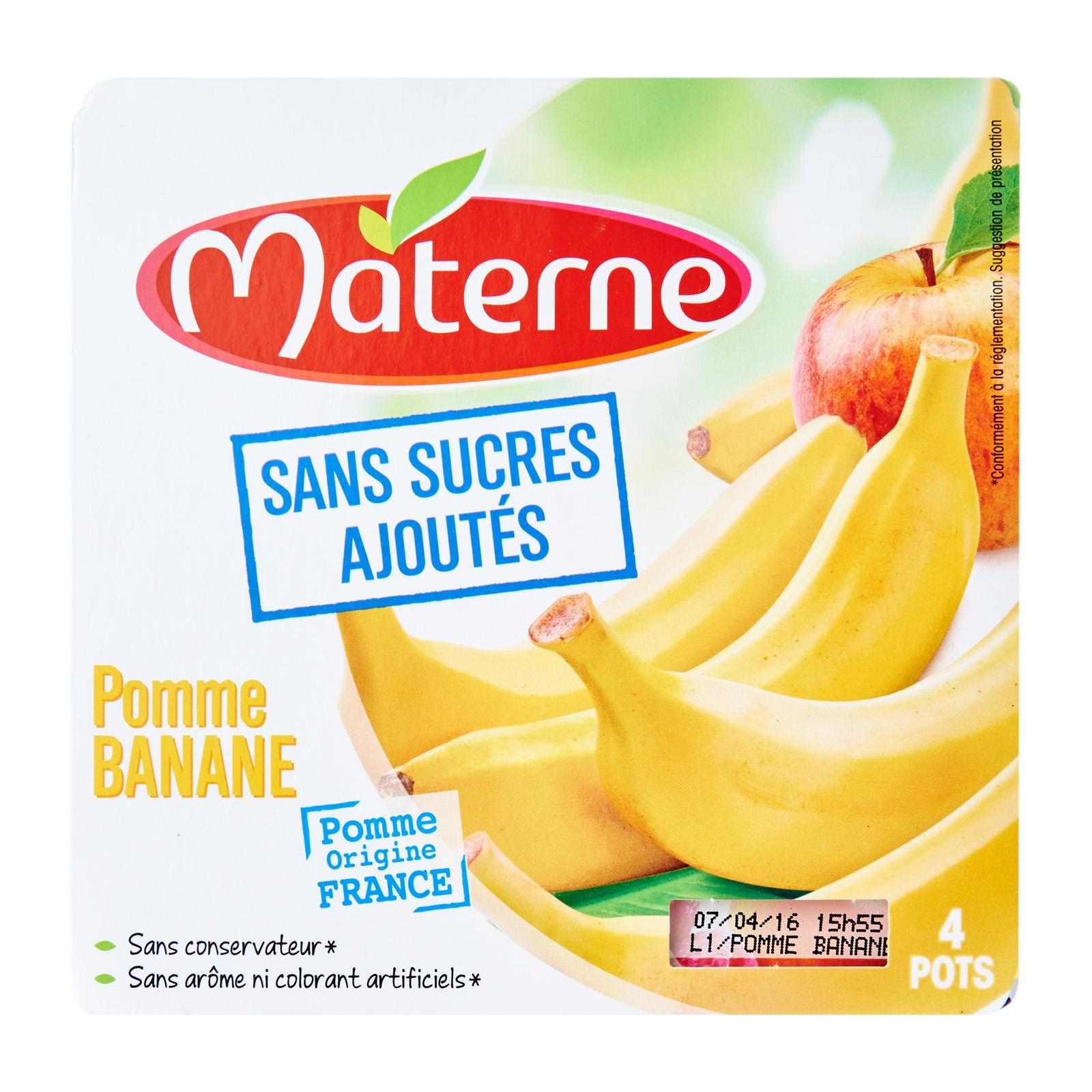 Materne No Added Sugar Apple and Banana Compote