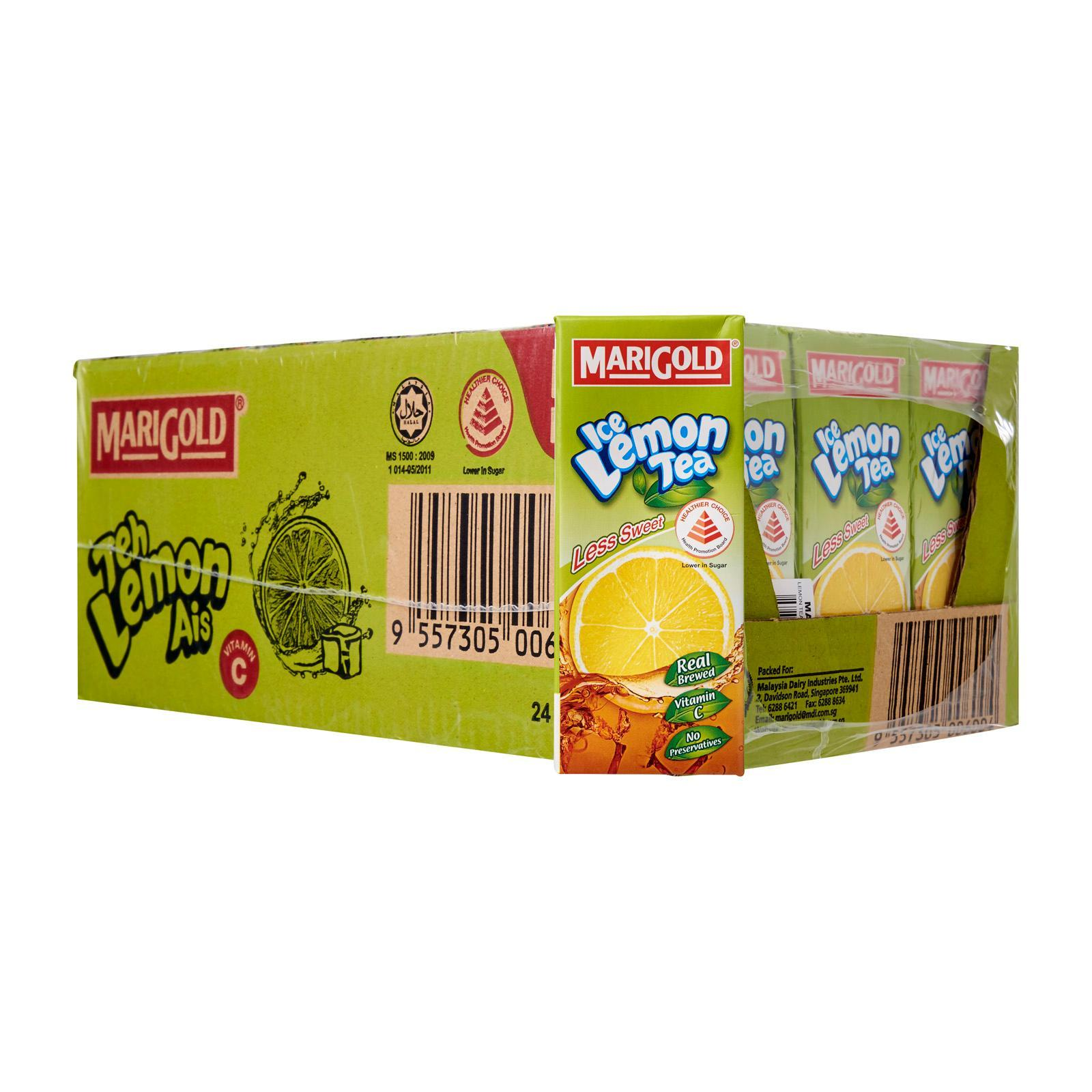 MARIGOLD Less Sweet Ice Lemon Tea Packet Drink - Case