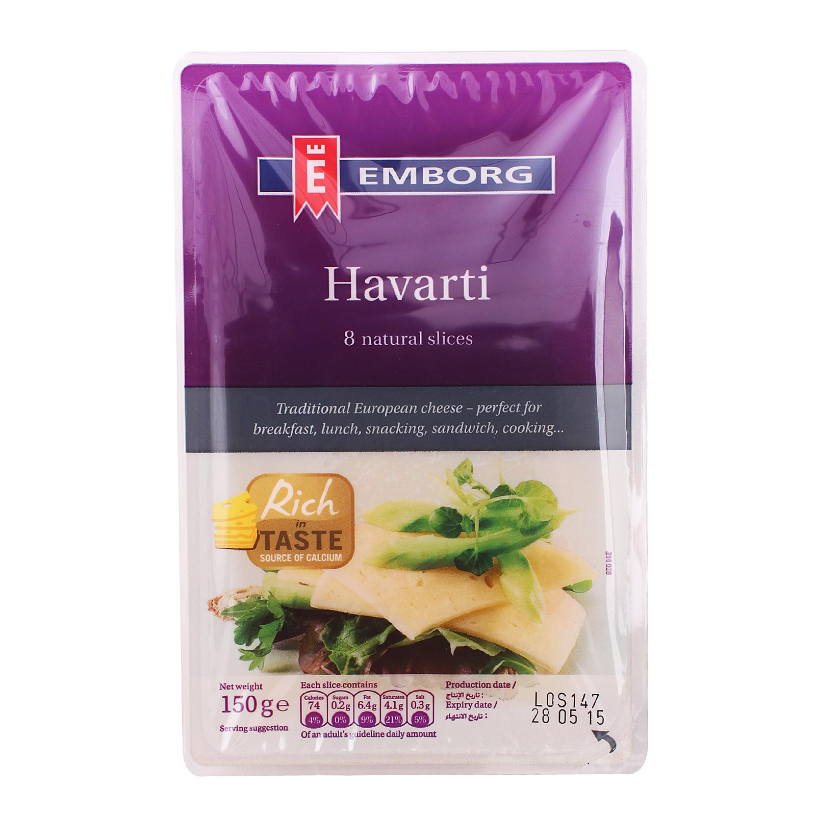 Emborg Havarti Natural Sliced Cheese