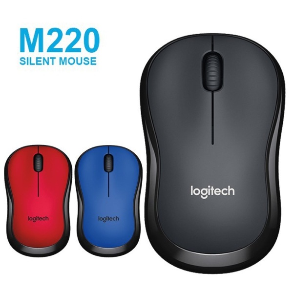 [SG BASED] M220 Silent Wireless Mouse 1600DPI Optical Tracking