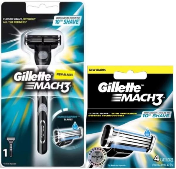 Buy GILLETTE Bundle Mach3 Razor and Cartridges Refill Singapore