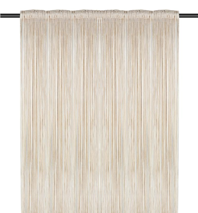 String Curtain, (1m Width x 3m Width), White and Cream