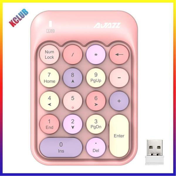 Delicate 2.4G Wireless Mini Round Key Cash Register Keypad Financial Accounting Keyboard Singapore