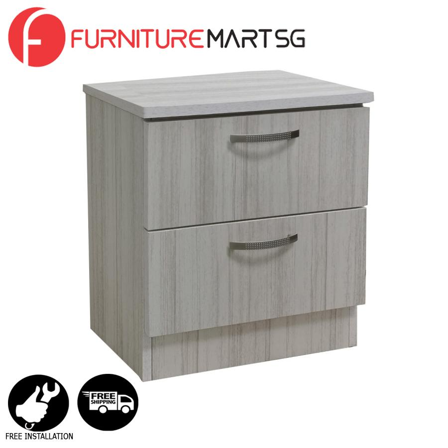 [FurnitureMartSG] Dexon 2 Side Table in White Wash_FREE DELIVERY + FREE INSTALLATION