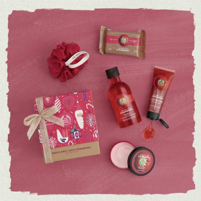 Buy The Body Shop Irresistibly Juicy Strawberry Festive Picks Singapore