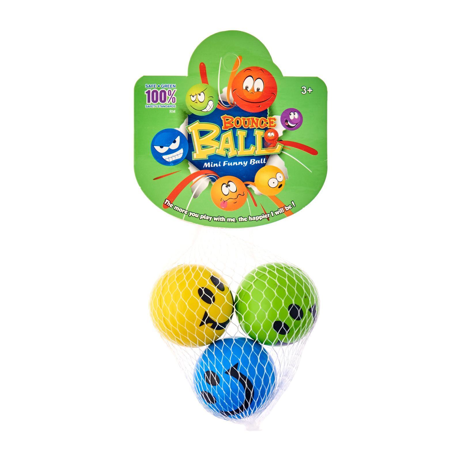 MTrade 4.6Cm Smile Face Bounce Balls 3 PCS/Pack Party Favor