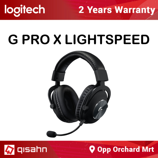Logitech G PRO X Wireless Lightspeed Gaming Headset, Blue Voice Mic Filter Tech, 50 mm PRO-G Drivers, X 2.0 Surround Sound Singapore