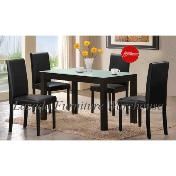 Alice Dining Set (1 Table + 4 Chairs)