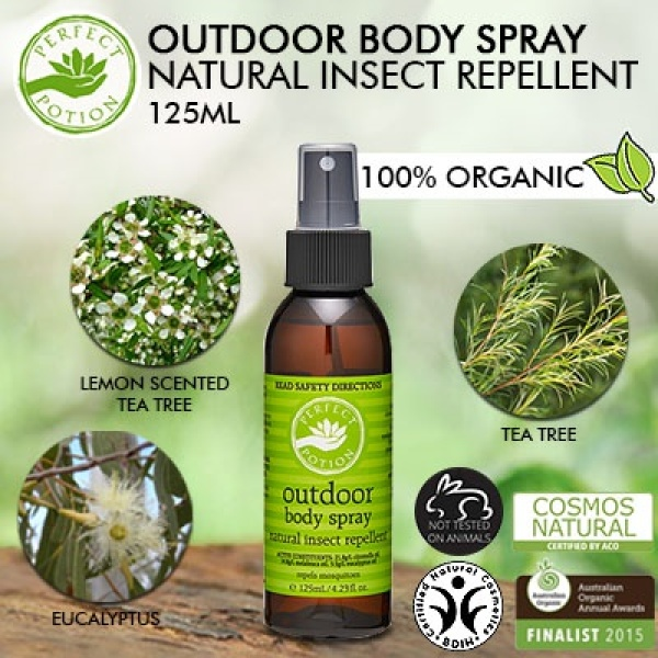Buy Perfect Potion Outdoor Body Spray Natural Insect Repellent 125ml Singapore