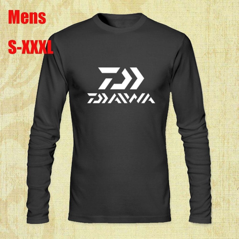 35af50b6c New Daiwa Fishing Logo Long Sleeve Mens Black T-Shirt Cotton Printed Funny  Graphic Tee