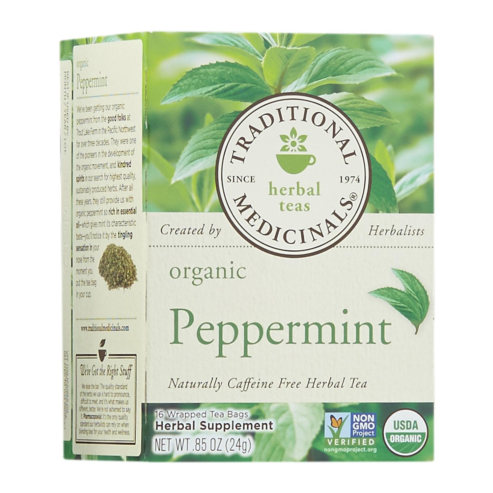 Traditional Medicinals Organic Peppermint Tea - By Wholesome Harvest By Redmart.