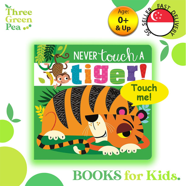 Touch and Feel Book Never Touch a Tiger Children Board Book for babies