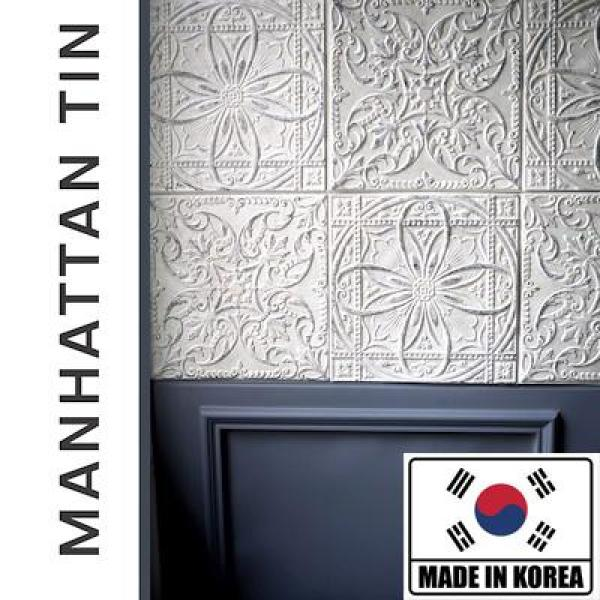 MANHATTAN TIN TILE / 3D Foam Sticker / Decor Home Wallpaper / DIY Brick Self-adhesive / Decoration / Corner Guard Safety Kids Room