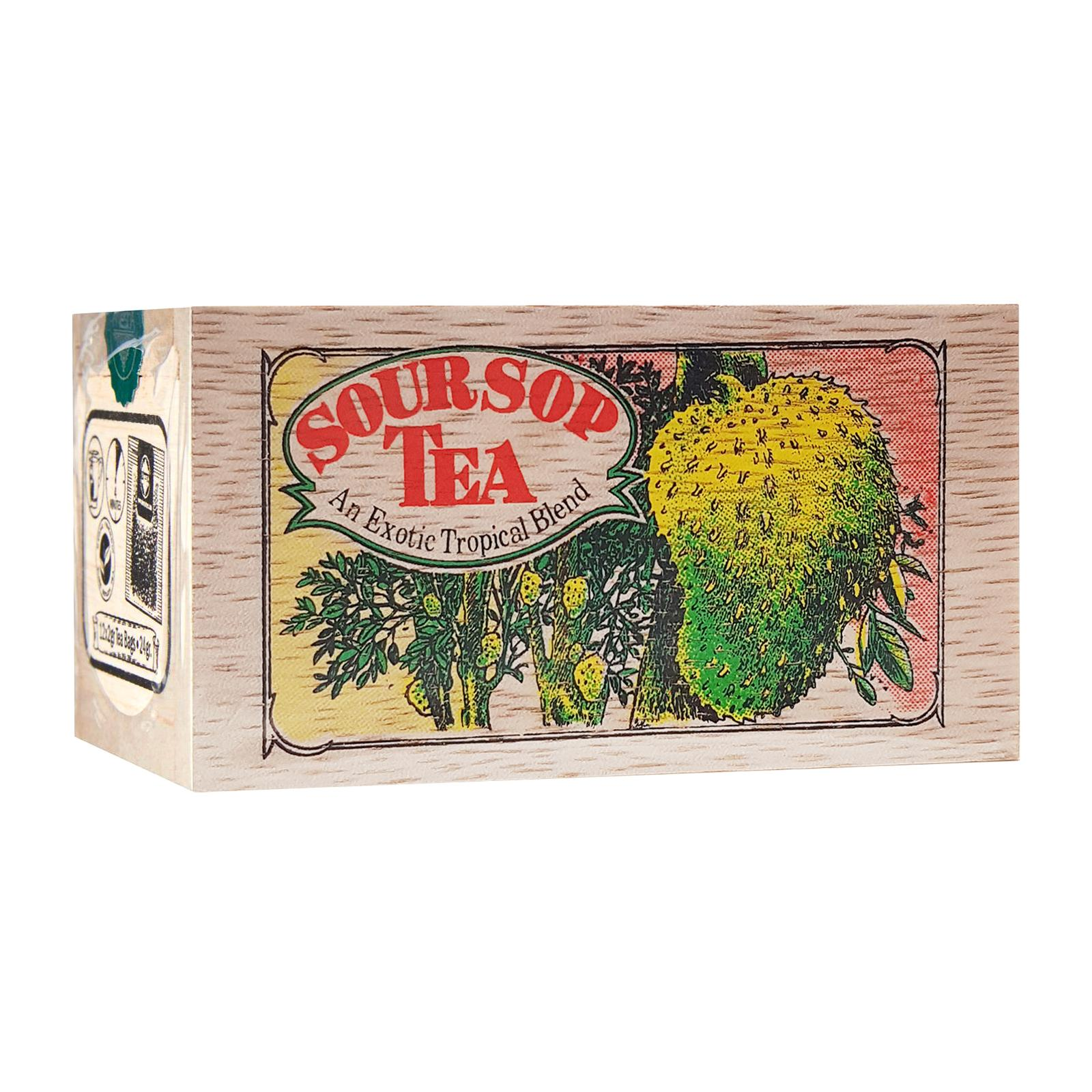 Mlesna Wooden Box Merlion Soursop 12'S Tea (Clarke Quay)
