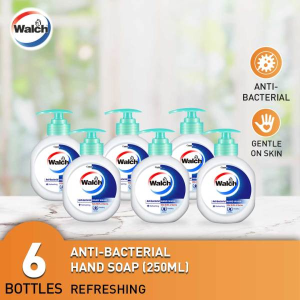 Buy Walch Antibacterial Handsoap 250ml x 6 bottles - Moisturizing / Refreshing / Sensitive Singapore