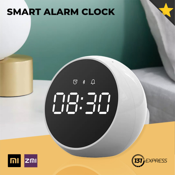 Xiaomi ZMI Smart Alarm Clock [ NZBT01, XiaoAi Voice Control, Multi-Function, Reminder, HD Loud Speaker, Timer, Bluetooth 5.0, 72H Standby, 2400mAh, Long Endurance, Portable, Compact Size, Lightweight, Auto Brightness, Minimalist Design, IOT, Smart Home ]
